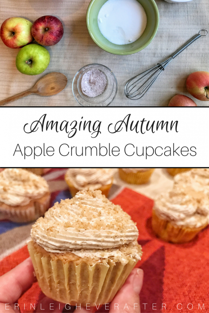 apple crumble cupcakes