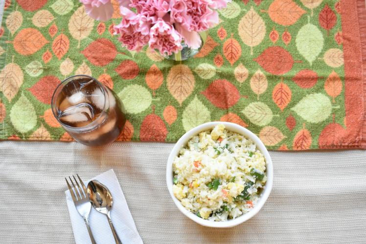 simple cauliflower fried rice
