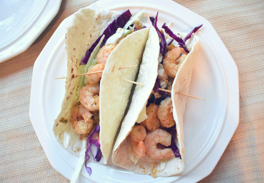 grilled healthy shrimp tacos