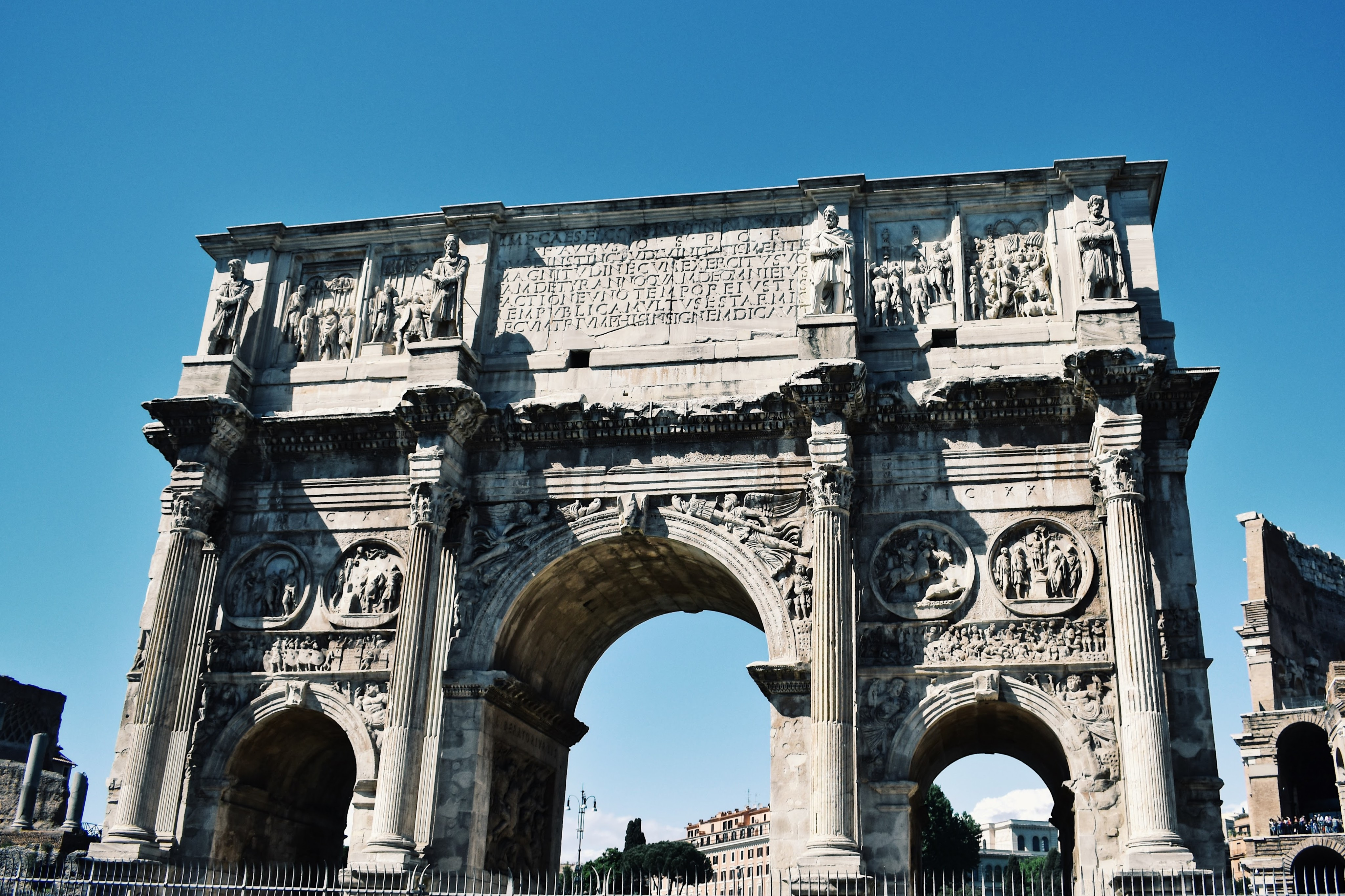 Historical Highlights of Rome - constantine arch
