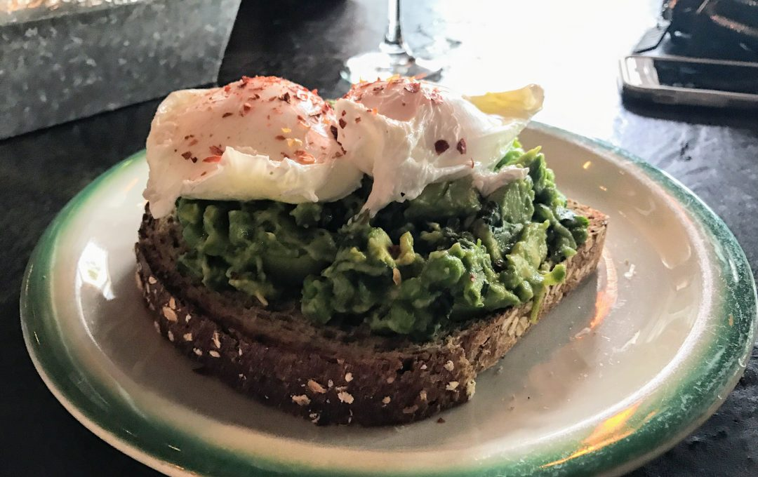 fox and crow jersey city brunch - avocado toast